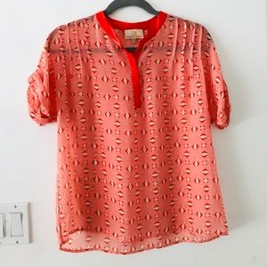 Collective Concepts Nordstrom Sheer Funky Blouse